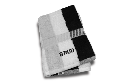 RUD Hand Towel black/white